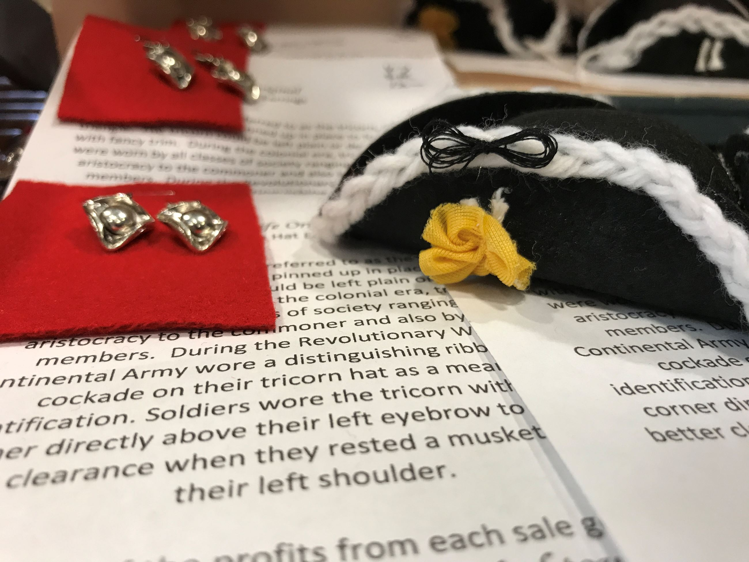 Tricorn Hat Pins from Gallery at York Hall