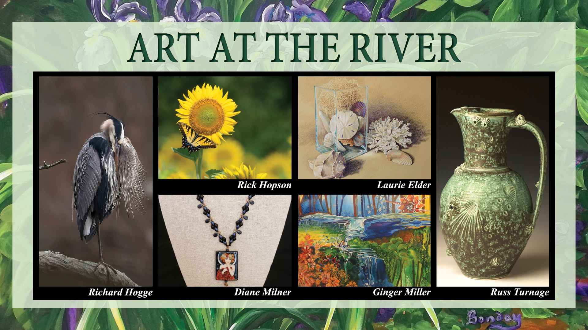 Art at the River Featured Artists Collage