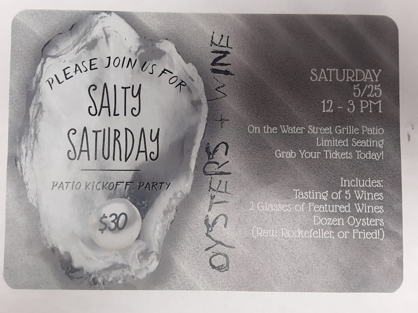 Water Street Grille Salty Saturday May 25