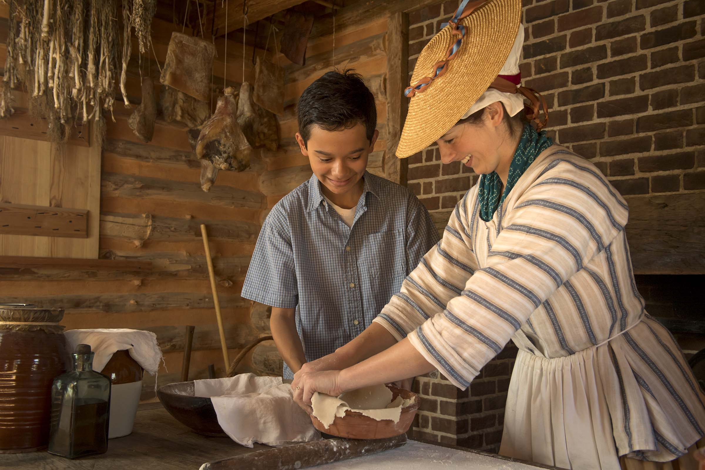 Making pie crust american revolution museum at yorktown