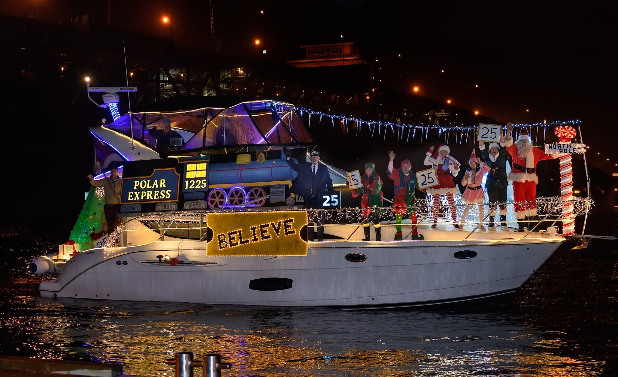 Polar Express Best in Show 2018 Lighted Boat Parade