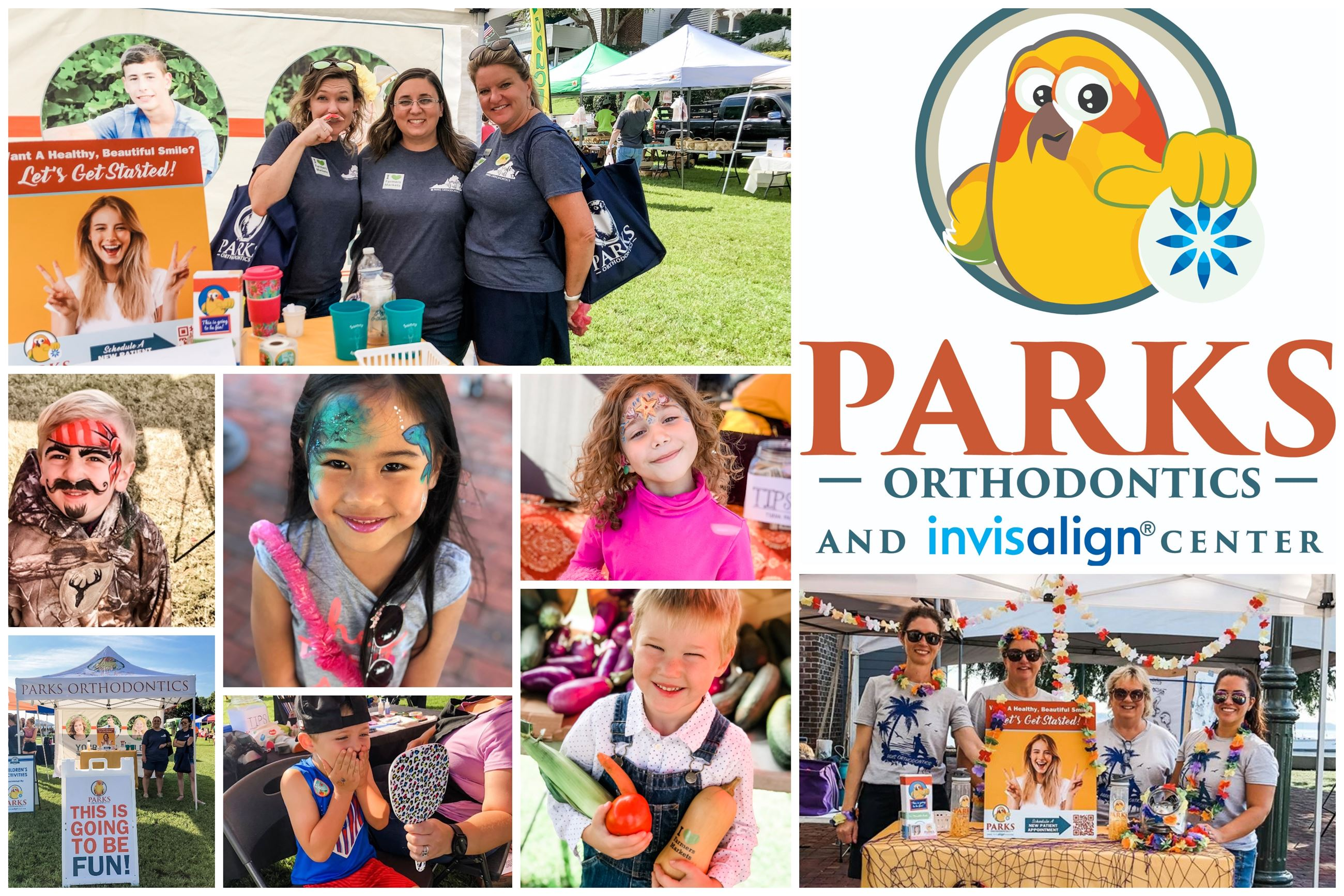 Market Days Parks Orthodontics Kids Activities Collage