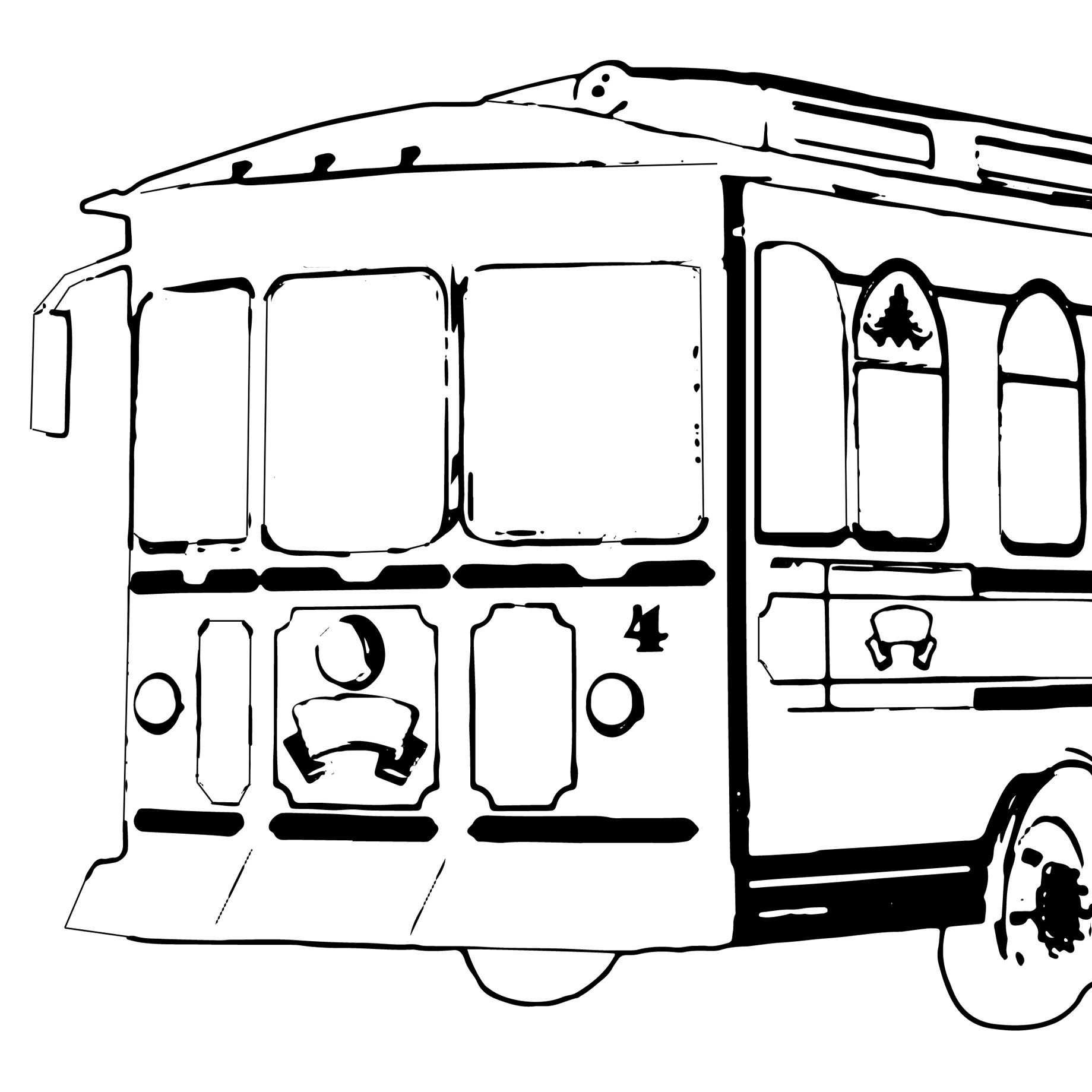 Coloring Pages Yorktown Trolley