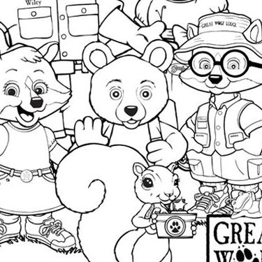 Coloring Page -  Great Wolf Lodge Kids