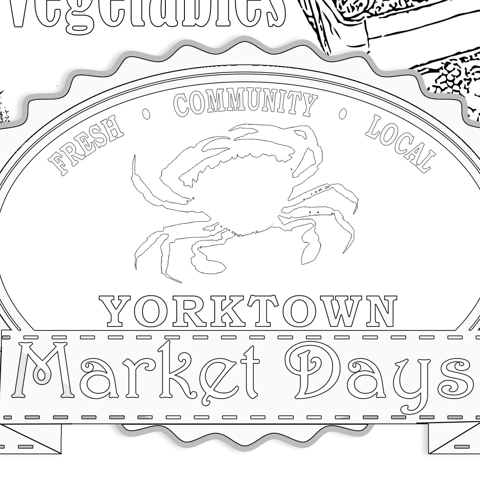 Coloring Pages _Market Days
