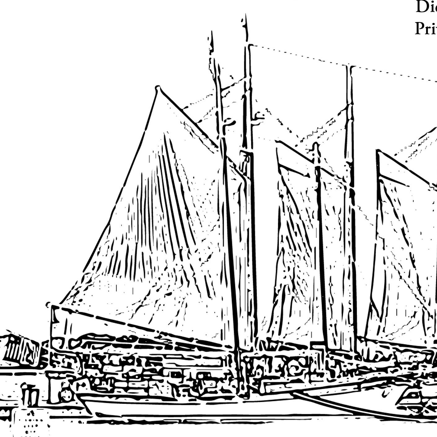 Coloring Page Schooner Alliance