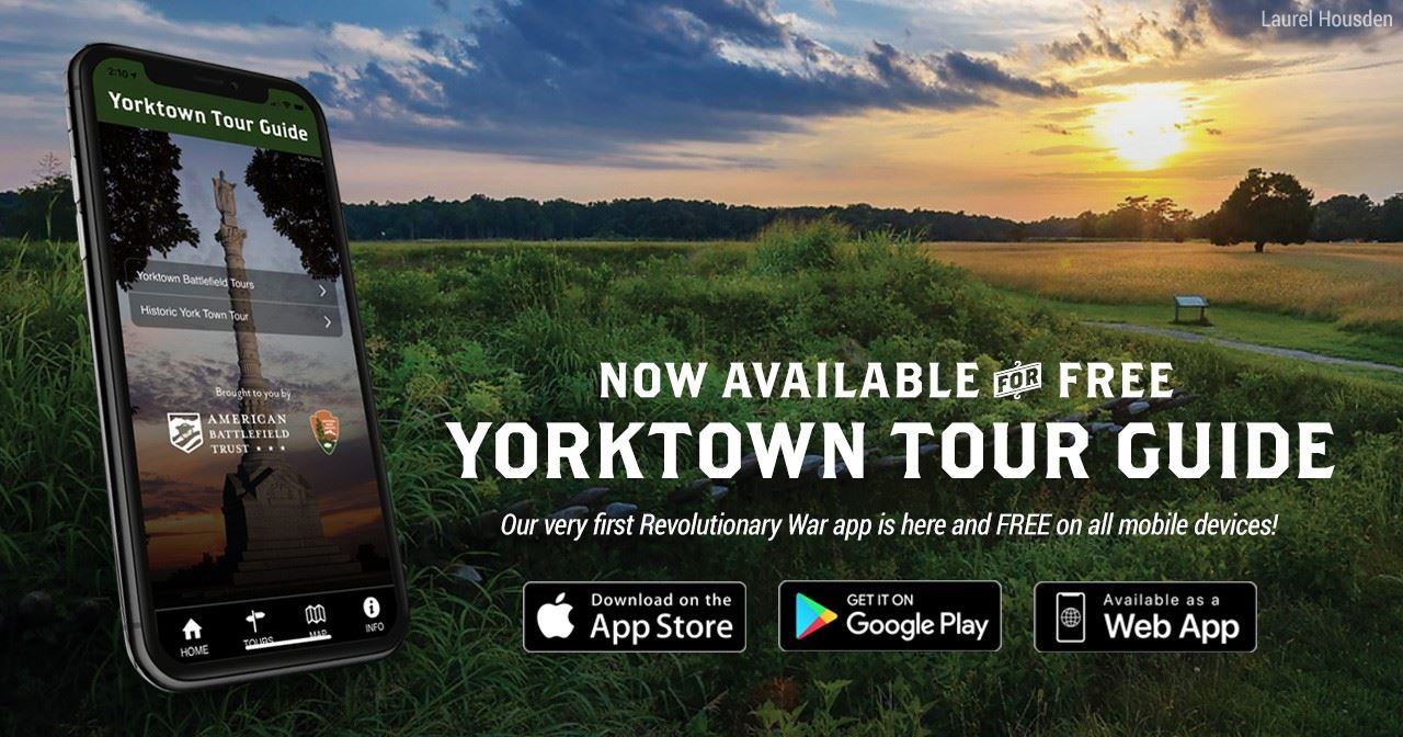 Screen grab of the new Yorktown Tour Guide Mobile App