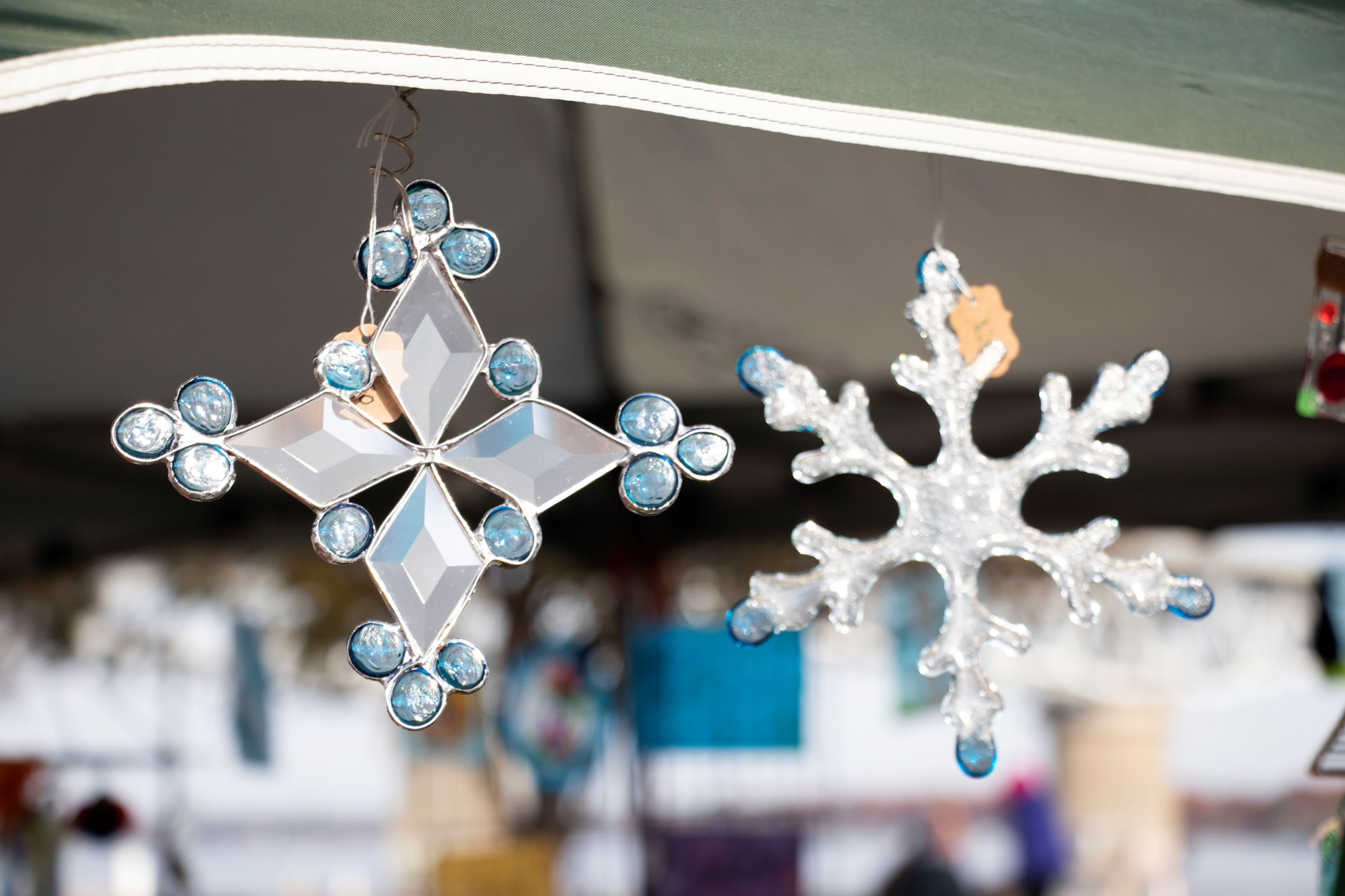 Stained Glass Snowflakes created by market artist Barbara Meier
